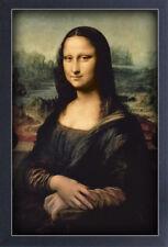 MONA LISA LEONARDO DA VINCI 13x19 FRAMED GELCOAT POSTER RENAISSANCE ART ICONIC!!