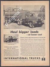 INTERNATIONAL TRUCKS R-190 & R-160- 1955 Vintage Print Ad