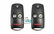 2 New Replacement Keyless Entry Flip Key Shell Case for Honda Accord 2008-2012