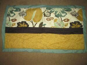 CA King pillow sham-1-NWOT-green/gold/brown design w/ white lining w/green trim