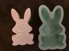 Easter Bunny Rabbit Silicone Mould Mold Wall Hanging Decoration Plaque Many uses