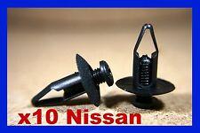 10 Nissan Pare choc avant carénage Grattoir frottement BANDE POUSSOIR VIS