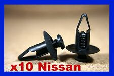10 Nissan Parachoques Delantero Fascia desgaste frotamiento tira Empuje Clips Sujetador De Tornillo