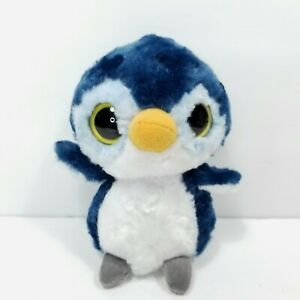 "YooHoo Friends Penguin Kookee Musical Sounds Blue White Big Eyes 6"" Plush Aurora"