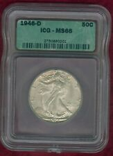 ICG MS 66 1946-D Walking Liberty Half Dollar--NICE