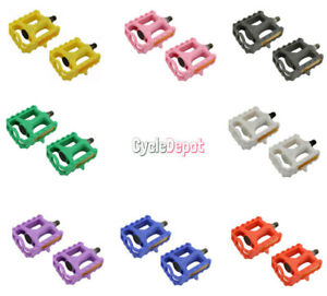 "NEW Bicycle Plastic Pedals 861 1/2"" Lowrider BMX Mountain Bike Crusier Fixie"