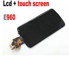 GLS: DISPLAY LCD +TOUCH SCREEN per LG NEXUS 4 BLACK E960 ORIGINALE VETRO NERO