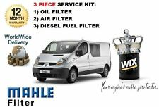 FOR RENAULT TRAFIC 9/2006-> 2.0 DCi TURBO OIL AIR FUEL FILTER SERVICE KIT