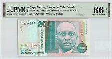 New listing Cape Verde 1989 P-58a Pmg Gem Unc 66 Epq 200 Escudos