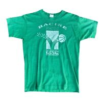 Vtg 90s Thrashed Paper-Thin Distressed Single Stitch Racine Basketball T-Shirt M