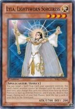 3 x Lyla, Lightsworn Sorceress (SDLI-EN008) - Common - Near Mint - 1st Edition