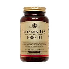 Solgar Vitamin D3 Cholecalciferol 1000 IU Softgels 250 Count