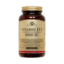 Solgar Vitamin D3 (Cholecalciferol) 1000 IU 250 Softgels FRESH Made In USA