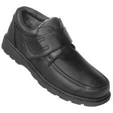 Herren Klett Schuhe Outdoor Boots Winterschuhe mit Klettverschluss 827 Schwarz