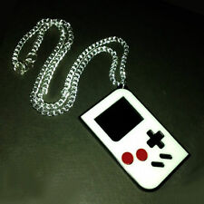 Unusual Retro Nintendo Gameboy Necklace ~ Girl Gamer~Game Boy Style~Colour White