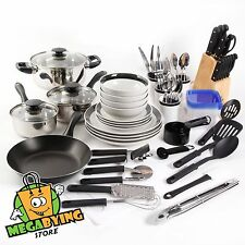 83 Piece Non Stick Pots and Pans Cookware Set Combo Set Kitchen Cooking Steel
