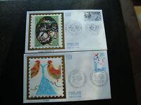 FRANCE - 2 enveloppes 1er jour 1981 (jacques offenbach/l eau) (cy69) french