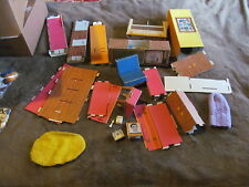 Fabulous Lot Of Vintage Barbie Dollhouse Inner Parts & Furniture - Cardboard