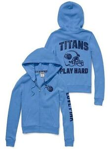 TENNESSEE TITANS Hoodie Zip Up NFL Football Jacket VICTORIA SECRET Small NWT