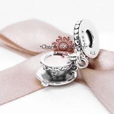 Pandora, S925 Enchanted Tea Cup Pendant Dangle Bracelet Charm, NEW, 797064EN160