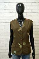 Panciotto Maglia Gilet Donna TRUSSARDI BOUTIQUE Taglia 42 Polo Shirt Woman Top