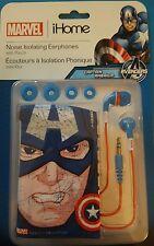 Marvel Comics Captain America - Noise Isolating Earphones - NEW!