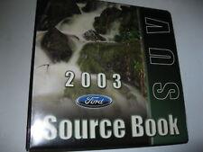 FORD DEALER SUV SOURCE BOOK 2003