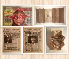 LOT 5 HARRY POTTER COSPLAY PARTY PROPS HANDMADE QUIBBLER,MARAUDERS MAP,PROPHETS+