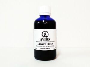 """Engineers Layout Fluid Marking Dye for steel Blue 4 Oz Brush in Cap (""""as-dykem"""")"""