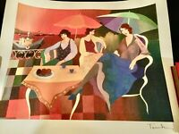 Itzchak Tarkay Gulf Coast Breeze #1 Seriolithograph Signed in Plate