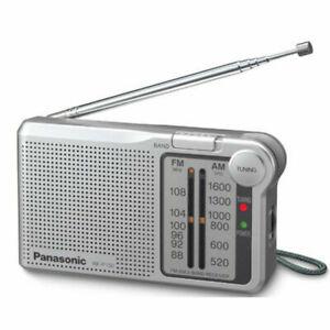 Panasonic Portable AM/FM Pocket Radio Silver Battery Operated