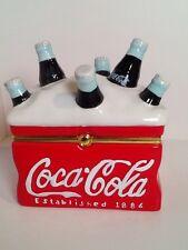 Coca Cola Cooler with Bottles Ceramic Trinket Jewelry Box Coke 2002 Est 1886