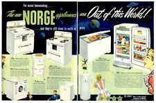 1951 NORGE Vintage Appliances detailed PRINT AD