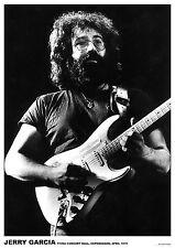 "Jerry Garcia, Tivoli Concert Hall, Copenhagen 1972 -   33"" x 24""  B&W POSTER"