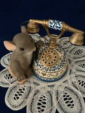 """Charming Tails """" I'm Just A Phone Call Away"""" figurine by Fitz & Floyd. #89/161"""