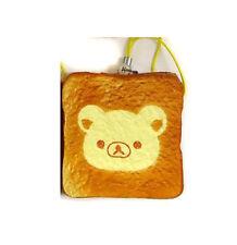 NEW Fans Rilakkuma Soft Bread Toast Squishy Keychain Mascot 6cm SS9358 US Seller
