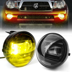 Xprite LED Fog Lights Driving White/Yellow for 2004-2013 Toyota Tundra Tacoma