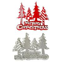 Merry Christmas Tree Metal Cutting Dies Stencil DIY Scrapbooking Album Craft