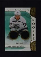 2019-20 UD Artifacts Base Gold Jersey Relic #176 Carl Grundstrom /499
