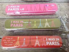 Set of 3 Vintage Style Paris French Eiffel Tower Pencil Tin Case , Make Up case