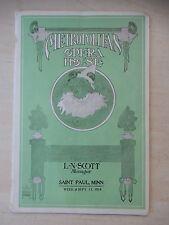 September 13th, 1914 - Metropolitan Opera Playbill - Seven Keys To Baldpate