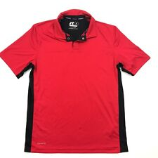 Neuf Russell Polo Taille M 38-40 Entraînement Fit Rouge Sec Manches Courtes