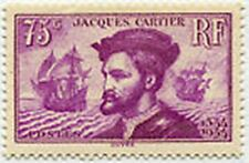 "FRANCE STAMP TIMBRE N° 296 ""JACQUES CARTIER 75c LILAS "" NEUF xx TTB A132B"