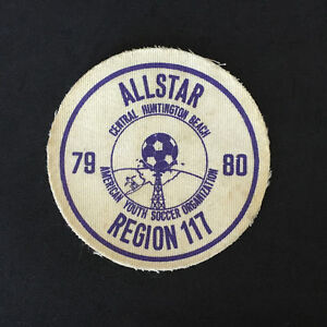 Vintage 79 80 ALLSTAR Huntington Beach Youth Soccer Printed Twill Sew On Patch