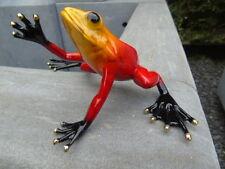 grenouille exotique en bronze patinée couleurs , statue bronze animalier ...