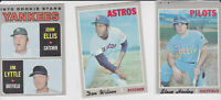1970 Topps lot #5  18 mid grade+ high # 600's Rusty Staub seattle pilots yankees