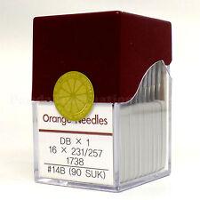 1 Box of 100 Orange DBX1 16X231/257 Industrial Sewing Machine Needles, Size 14B