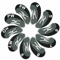 10Pcs Black&Grey Neoprene Mizuno Golf Club Iron Covers HeadCovers UK Stock