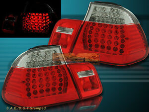 2002 2003 2004 2005 BMW E46 330 328 325 TAIL LIGHTS LED RED CLEAR 4DR