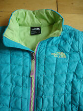 Girls The North Face Small 7/8 Light blue turquoise Jacket Coat Sweater S 7 8